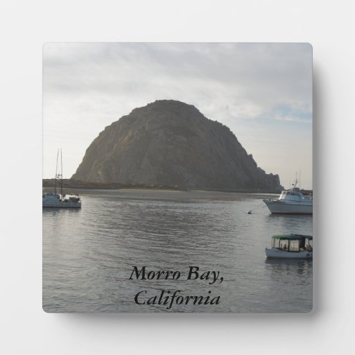 Morro Rock at Morro Bay, CA Display Plaque