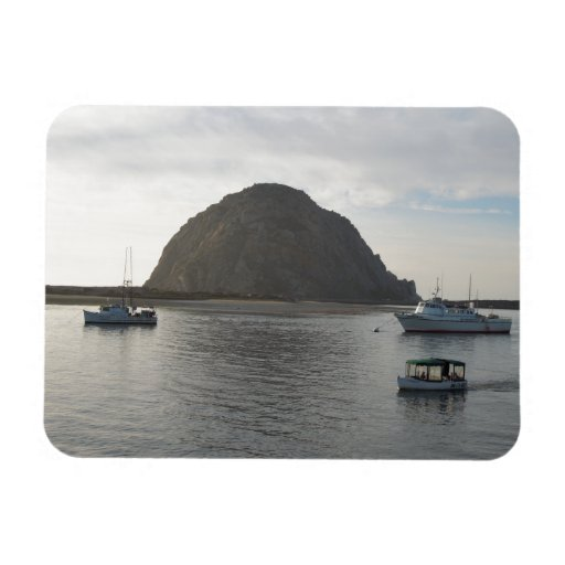 Morro Rock at Morro Bay, CA Vinyl Magnet