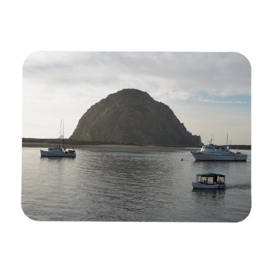 Morro Rock at Morro Bay, CA Rectangular Photo Magnet