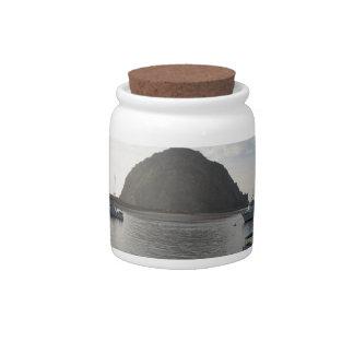 Morro Rock at Morro Bay, CA Candy Jar