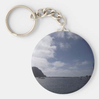 Morro Rock Basic Round Button Key Ring
