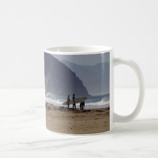 Morro Rock Beaches Surfers Basic White Mug