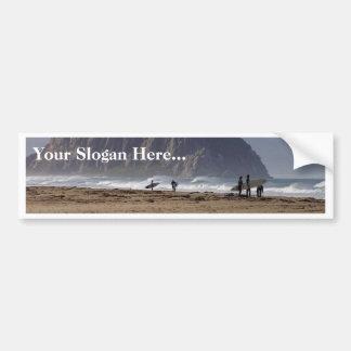 Morro Rock Beaches Surfers Car Bumper Sticker