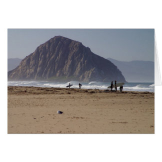 Morro Rock Beaches Surfers Greeting Card