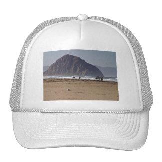 Morro Rock Big Sur California Painted Mesh Hats