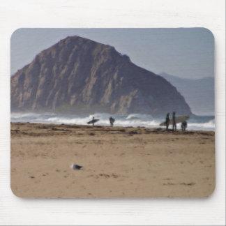 Morro Rock Big Sur California Painted Mouse Pad