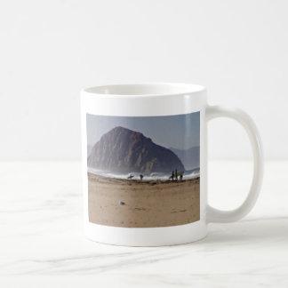 Morro Rock Big Sur California Painted Mugs