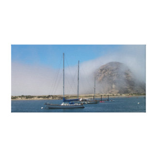 Morro Rock day Stretched Canvas Print