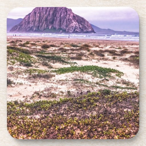 Morro Rock Dunes at Sunset Drink Coaster