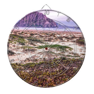 Morro Rock Dunes at Sunset Dartboard With Darts