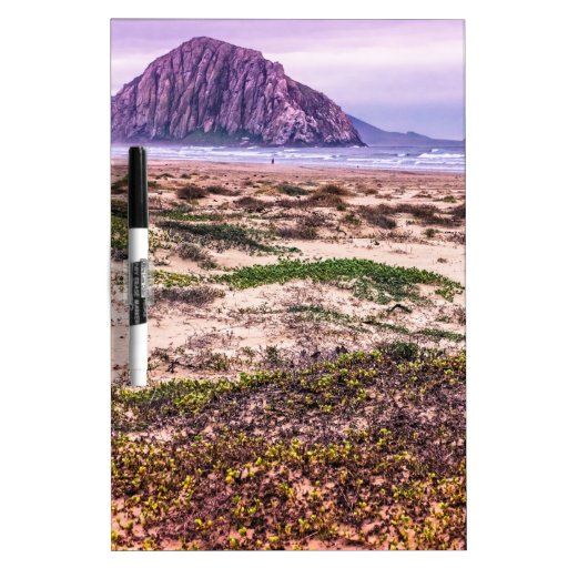 Morro Rock Dunes at Sunset Dry-Erase Board