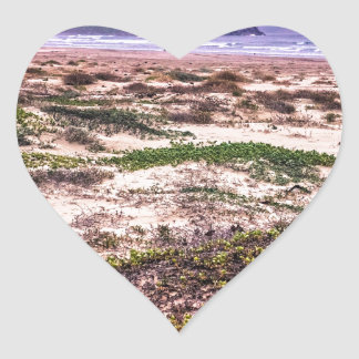 Morro Rock Dunes at Sunset Heart Sticker