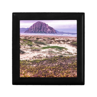 Morro Rock Dunes at Sunset Jewelry Box
