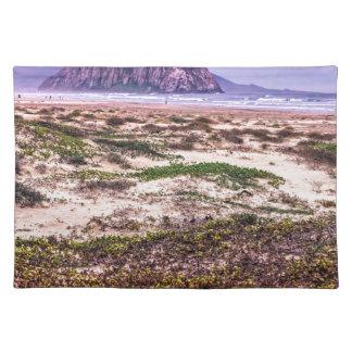 Morro Rock Dunes at Sunset Place Mats