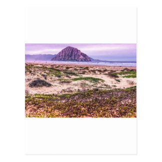 Morro Rock Dunes at Sunset Postcard