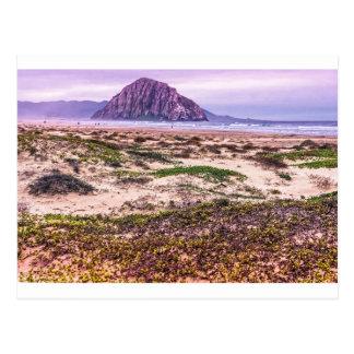 Morro Rock Dunes at Sunset Postcards
