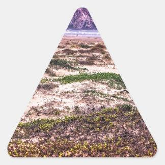 Morro Rock Dunes at Sunset Triangle Sticker