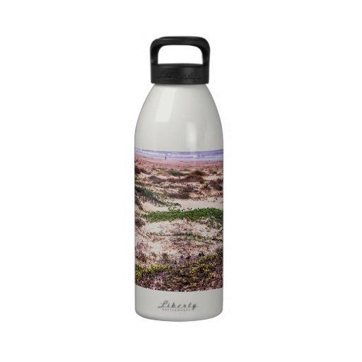 Morro Rock Dunes at Sunset Drinking Bottle