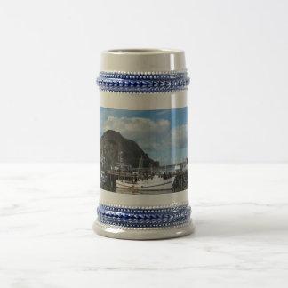 Morro Rock, Fishing Boats and the Embarcadero Beer Steins