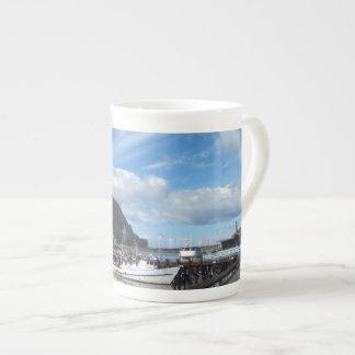 Morro Rock, Fishing Boats and the Embarcadero Bone China Mug