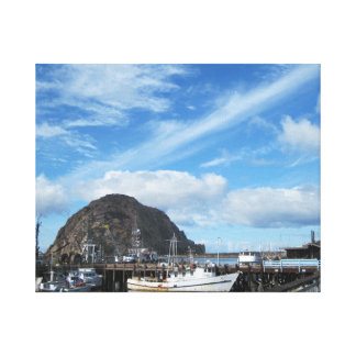 Morro Rock, Fishing Boats and the Embarcadero Gallery Wrap Canvas
