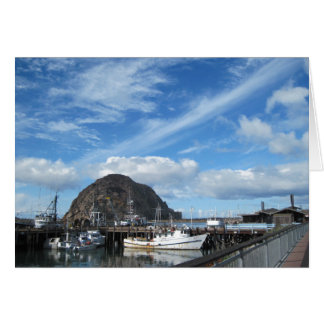 Morro Rock, Fishing Boats and the Embarcadero Greeting Card