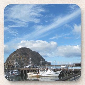 Morro Rock Fishing Boats and the Embarcadero Drink Coasters