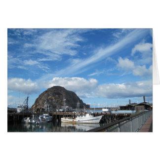 Morro Rock, Fishing Boats and the Embarcadero Greeting Card