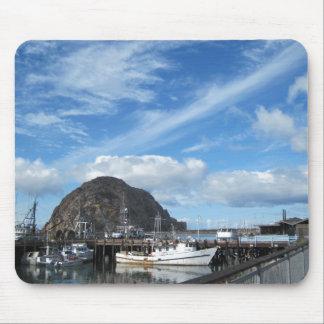 Morro Rock Fishing Boats and the Embarcadero Mouse Pad
