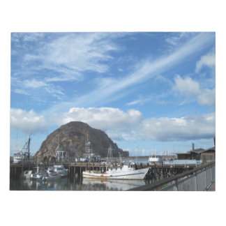 Morro Rock Fishing Boats and the Embarcadero Memo Note Pad