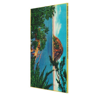 Morro Rock in San Luis Obispo County Gallery Wrapped Canvas