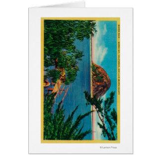 Morro Rock in San Luis Obispo County Greeting Card