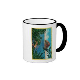 Morro Rock in San Luis Obispo County Coffee Mugs