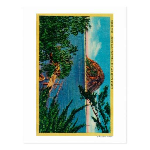 Morro Rock in San Luis Obispo County Post Card
