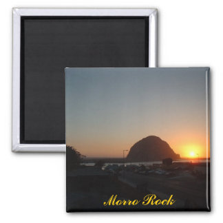 Morro Rock Square Magnet