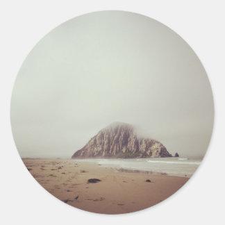 Morro Rock Round Sticker