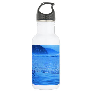 Morro Rock with seascape and sand 532 Ml Water Bottle