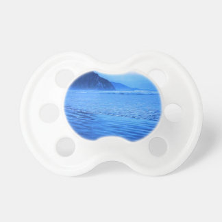 Morro Rock with seascape and sand Baby Pacifier