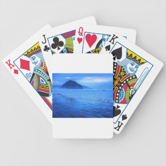 Morro Rock with seascape and sand Card Deck