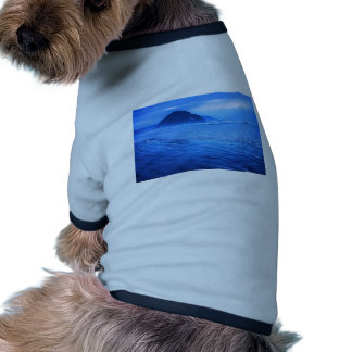 Morro Rock with seascape and sand Dog T Shirt