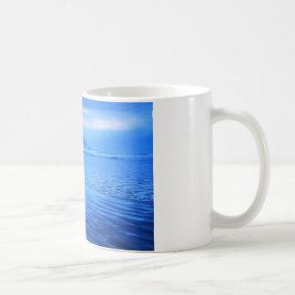 Morro Rock with seascape and sand Mug