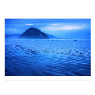 Morro Rock with seascape and sand Post Cards