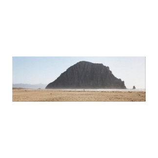 Morro Rock wrapped canvas Stretched Canvas Print