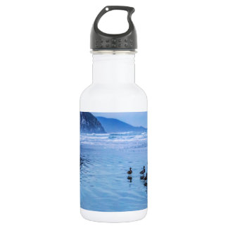 Morro Rocks at Dusk 18oz Water Bottle