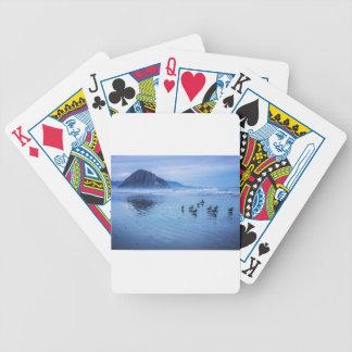 Morro Rocks at Dusk Poker Cards