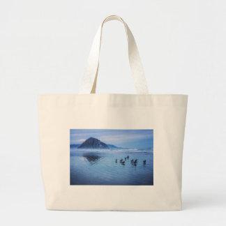 Morro Rocks at Dusk Canvas Bag