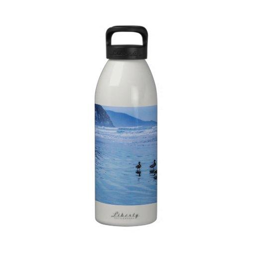 Morro Rocks at Dusk Water Bottle