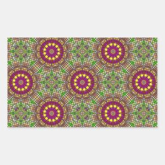 Morrocan Mosaic Kaleidoscope 2 Rectangular Stickers