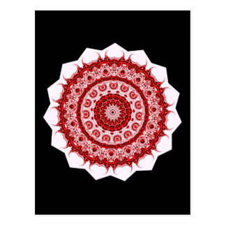 Morrocco red and white tile design postcard