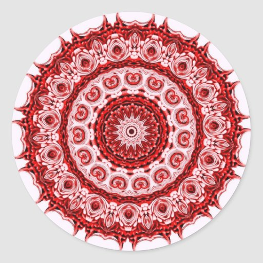 Morrocco red and white tile design sticker